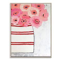 Poppy Jar Framed Canvas