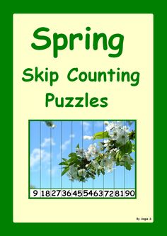 Spring Skip Counting Puzzles, for more resources follow https://www.pinterest.com/angelajuvic/autism-special-education-resources-angie-s-tpt-sto/