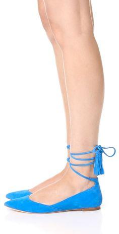 Loeffler Randall Penelope Ankle Wrap Flats | SHOPBOP