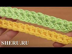 Шнур гусеничка с пышными столбиками Урок 100 How to Crochet Cord For Romanian Lace - YouTube