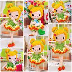 ⓝⓐⓝⓒⓨ  @ilovecrochet_nancy Sweet little doll...Instagram photo | Websta (Webstagram)