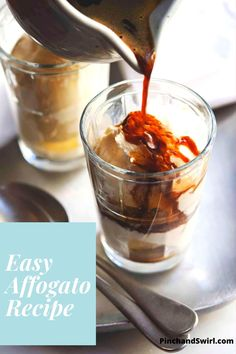 No need to go to a cafe, here is the easiest recipe you'll find for how to make Italian Affogato! All you need is creamy vanilla ice cream, good quality instant espresso coffee (shh..noone will know) and some loosely whipped cream and chocolate shavings to make it beautiful! It will become one of your favorite desserts! Easy Summer Meals, Healthy Summer Recipes, Easy Meals, Dessert Pasta, Dessert Bowls, Affogato Recipe, Wildly Delicious, Delicious Desserts, Yummy Food
