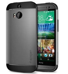 Spigen HTC One M8 Slim Armor Style TPU Case Gunmetal Gray Series Matte Metallic