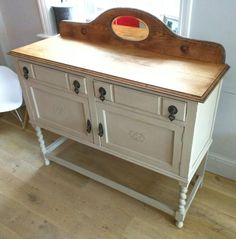 Barley twist oak sideboard refurbished for a customer @#Henrypaintsfurniture #shabbychic #vintage #antique #upcycle #anniesloan #barleytwist
