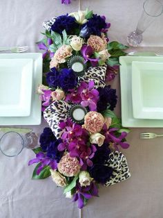 table garland arrangement for home party