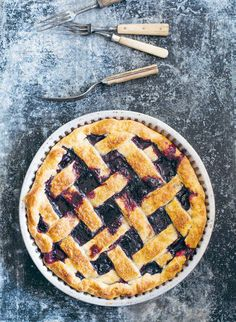 Blueberry, pear and lemon pie recipe from The Pie Project by Kirsten Jenkins | Cooked