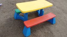 Fisher price summertime patio set with 4 chairs kids children picnic fisher price picnic table watchthetrailerfo