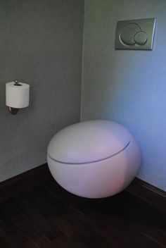 egg shaped toilet seat. Egg shaped wall hung designer toilet it s also a bidet to so washs and drys  your bottom front bits Slick High Tech Toilets Black Toilet Guest bath