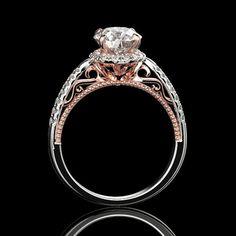10K R301 Genuine 9K 14K or 18K Solid Gold Natural Amethyst Ornate Vintage Ring