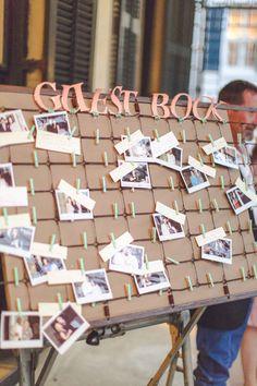 tablero: Guest Books pineadora : ruffled clothesline polaroid guestbook // photo by Geoff Duncan Wedding Signs, Diy Wedding, Wedding Favors, Wedding Decorations, Wedding Day, Wedding Photo Booth, Wedding Photos, Wedding Planner, Destination Wedding