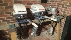 1969 Evinrude Fisherman 6hp model 6902M; 1968 Evinrude Fisherman 6hp model 6802R; 1938 Johnson model 300 3.7hp