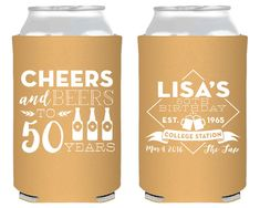 50th Birthday Any Year! Cheers to 50 Years Party Favors Birthday Party Favors Personalized Party Favor Favors Cheers and Beers 1406 by SipHipHooray