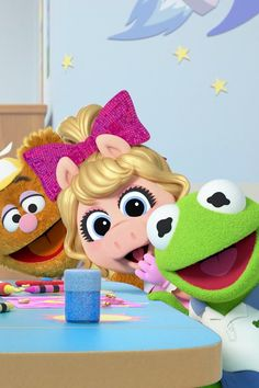 Muppet Babies, which originally aired from 1984 to is being rebooted by Disney Junior this month, and we're feeling super nostalgic. The reboot, which Cartoon Wall, Baby Cartoon, Cute Cartoon, Muppet Babies, Miss Piggy, Disney Junior, Baby Disney, Animal Muppet, Baby Wallpaper
