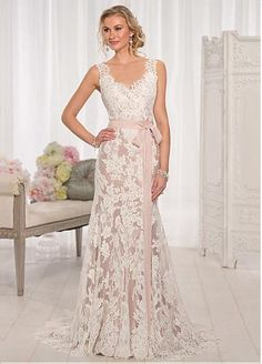 Fabulous Tulle & Satin A-line Scoop Neckline Natural Waistline Wedding Dress