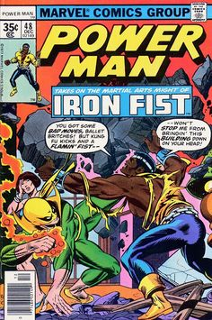 Comic Book Critic - Google+ - Power Man #48 (Dec '77) cover by Gil Kane & Joe Sinnott.