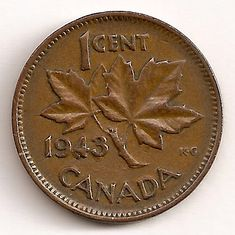 """A single Error 1943 """"Supported Four"""" Cent from George VI Canadian coin series from amongst the 1943 1 cent pieces that saw the greatest number of coins minted with a quantity approaching George Vi, Rare Coins Worth Money, Valuable Coins, Penny Values, Old Coins Value, Rare Pennies, Canadian Coins, Foreign Coins, Error Coins"""