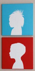 DIY Art Gift for Grandma & Grandpa: Christina Williams blogged a great silhouette tutorial.