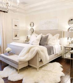 Awesome Cozy Bedroom Design Ideas You Must Try 38 - Crunchhome Comfy Bedroom, Small Room Bedroom, Master Bedroom Design, Home Decor Bedroom, Bedroom Inspo, Bedroom Inspiration, Diy Bedroom, Fancy Bedroom, Modern Bedroom