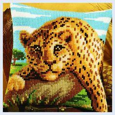 Cheetah - kruissteekkussen