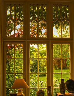 Window in the 14th century Marwell Hall, Hampshire by Anguskirk, via Flickr