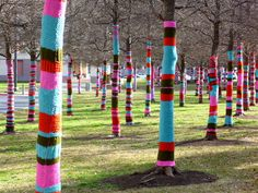 Guerrilla knitting art