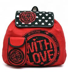 Buy Red love Canvas Back Pack backpack online