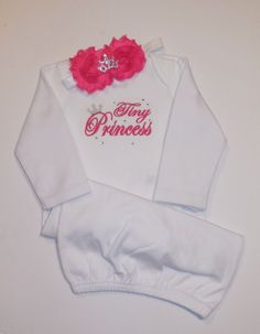 Infant Gown Tiny Princess newborn gown with by LittleQTCouture
