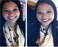 @camiis_ antes e depois do curso de automaquiagem feito com o Beauty Team da NYX do Mooca Plaza Shopping