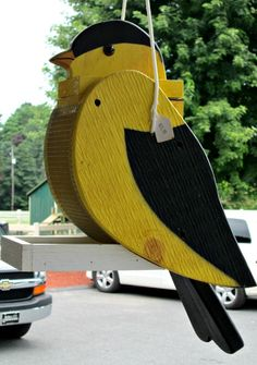 Unique Wooden Bird Feeder