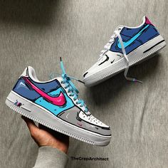 What would you name these custom painted Nike air Force - DIY fashion - Schuhe Nike Air Force, Custom Painted Shoes, Custom Shoes, Custom Sneakers, Nike Custom, Sneakers Mode, Sneakers Fashion, Shoes Sneakers, Air Force Sneakers