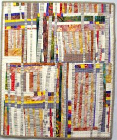 """Are improve quilts the modern scrap quilts? Improv quilt """"Summer Aspen"""" by Monica Curry"""
