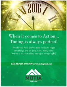 When it comes to Action.....Timing is always perfect @motiagroup