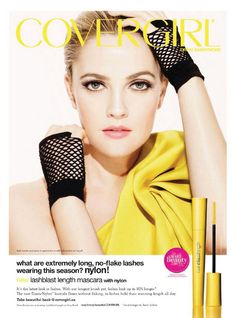 I love this brand of makeup and Drew Barrymore looks beautiful!