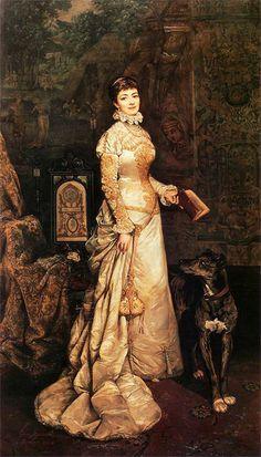 Tadeusz Ajdukiewicz,Portrait of Helena Modrzejewska,1880  via Tumblr