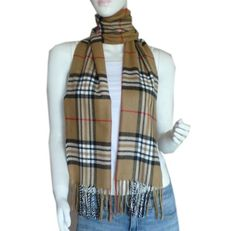 Super Soft Cashmere Feel Classic Plaid Tassel Ends Long Scarf -- Different Colors Available