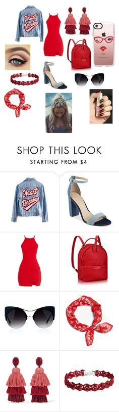 """Watch your HEART"" by taco-lambert ❤ liked on Polyvore featuring High Heels Suicide, GUESS, rag & bone, Oscar de la Renta and Casetify"
