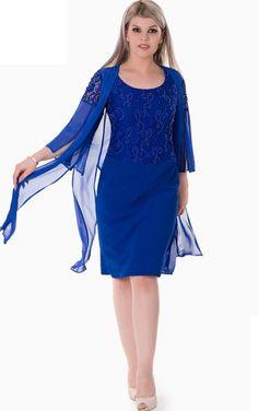 943c4f6c990 Sheath Knee-Length Scoop 3 Chiffon Beading Zipper Dress  ElegantDress   WeddingGuestDress