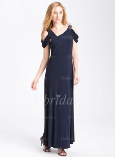 Mother of the Bride Dresses - $136.99 - A-Line/Princess V-neck Floor-Length Chiffon Mother of the Bride Dress With Ruffle Beading (00805006558)