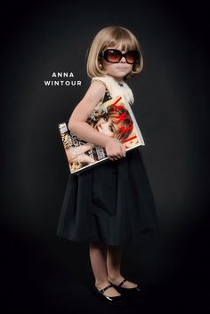 How adorable is this? Mini Halloween Fashion Icon costumes via @Jordan Bromley Ferney | Oh Happy Day!