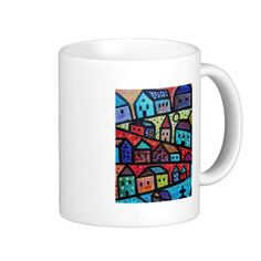 abstract on multiple products coffee mug