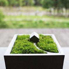 Силиконовые формы бетона Moss мини домик Мути мясо цветок кашпо плесень настольные украшения цемента плесень