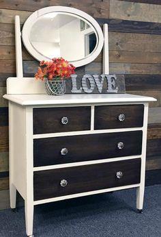 Gel Stain and Antique White Milk Paint Dresser | General Finishes Design Center