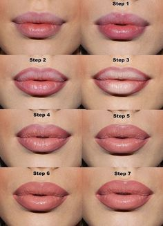 Make lips appear fuller with lip liner and concealer.Use a lip liner one shade deeper than your natural color to line just outside of your lips. Fill the center with concealer, then apply lipstick on top, then lip gloss. Beauty Makeup Tips, Love Makeup, Diy Makeup, Beauty Secrets, Beauty Hacks, Makeup Hacks, Makeup Tutorials, Makeup Ideas, Hair Beauty