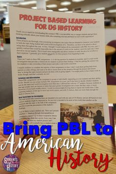 Project Based Learning Activities for US History! Engaging and interactive PBL!