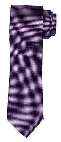 Purple Tie with Diamond Checker Pattern
