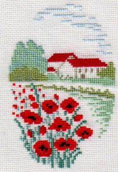Tiny Cross Stitch, Easy Cross Stitch Patterns, Cross Stitch House, Cross Stitch Bookmarks, Cross Stitch Borders, Simple Cross Stitch, Cross Stitch Flowers, Modern Cross Stitch, Cross Stitch Designs