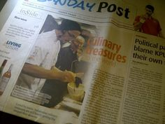 @chefbodin in @jakpost sunday edition! Congrats! courtesy Detania Sukarja