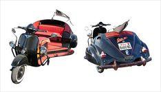Custom Trikes, Custom Motorcycles, Cars And Motorcycles, Trike Scooter, Trike Motorcycle, Vespa Ape, Vespa Lambretta, Third Wheel, Motor Scooters
