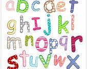 Digital clip art for all use alphabet AZ by petittatti on Etsy. $4.00, via Etsy.