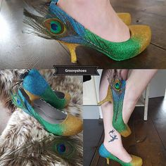 Peacock Prom Shoes